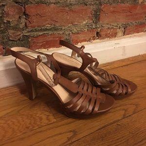 Franco Sarto Brown Sandal Heels